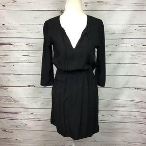 [Divided H&M] Peasant Style 3/4 Slv Dress, Black